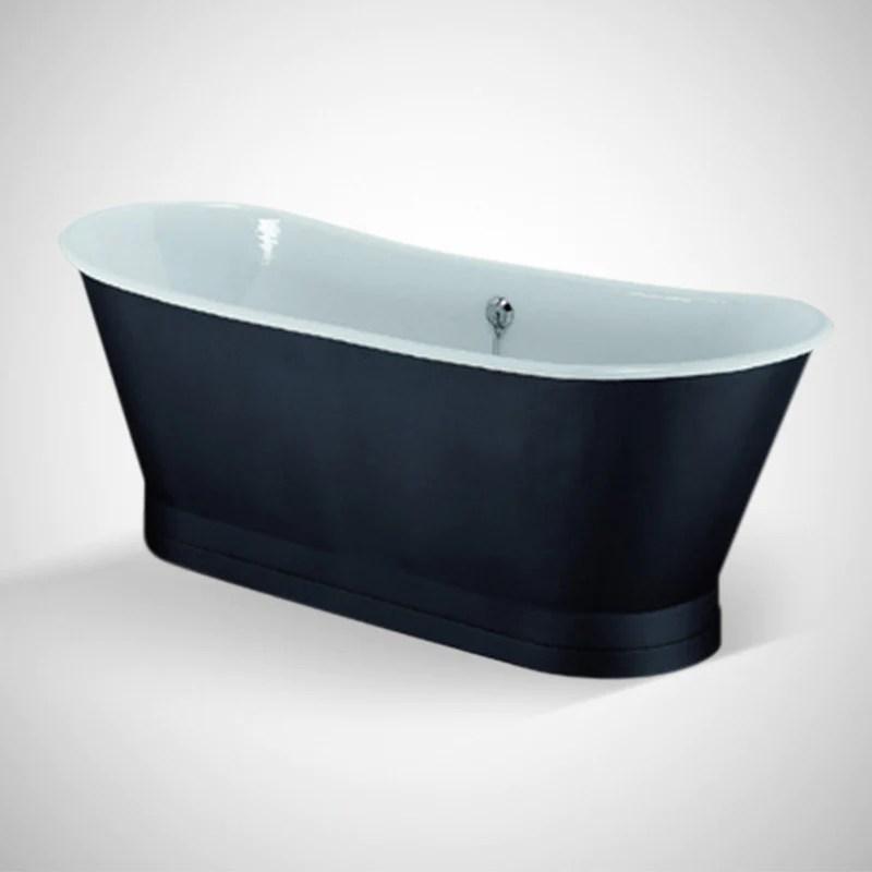 baignoire ancienne en fonte emaillee coventry noire
