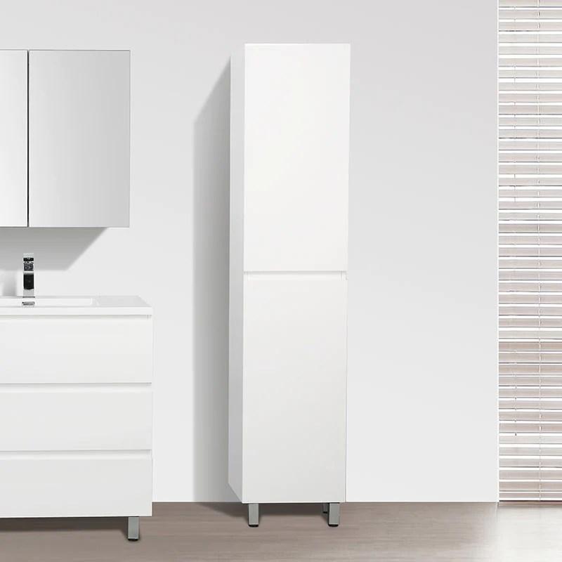 grande armoire de rangement verona hauteur 176 cm blanc laque