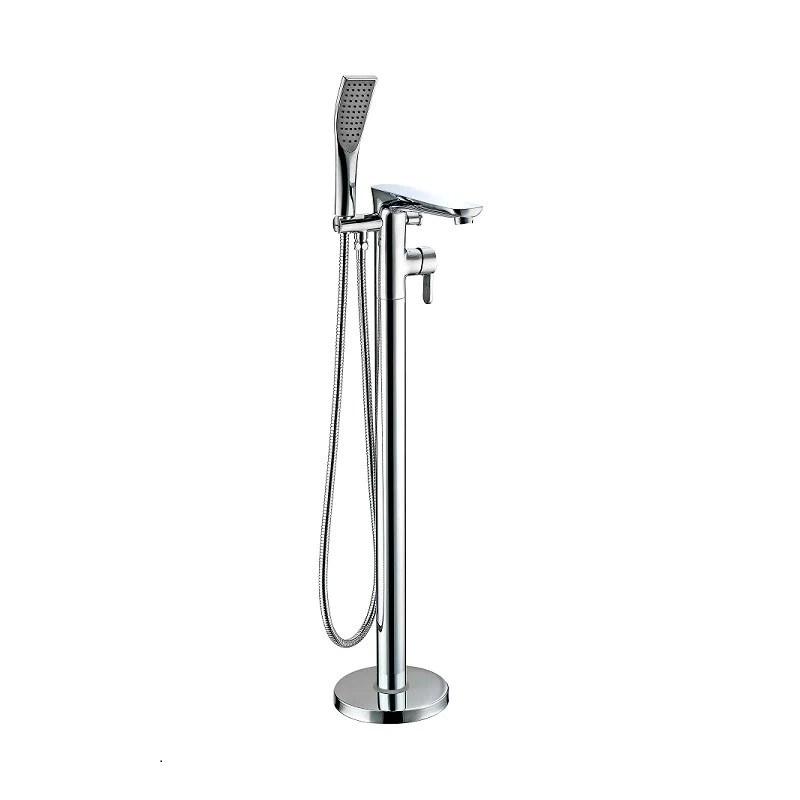 robinet mitigeur cascade sur pieds kiato pour baignoire ilot le monde du bain