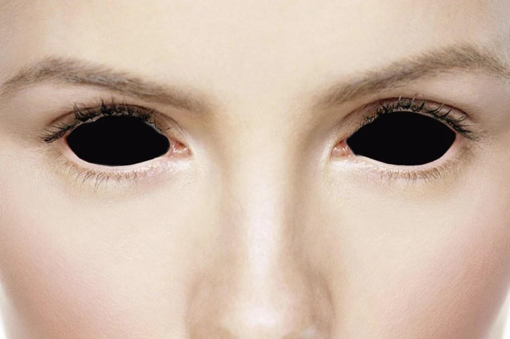 Evil Black Sclera Lenses 22mm Sclera Contact Lenses