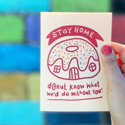 Donut Card by Tee and Toast. NHS, Lockdown, corona virus