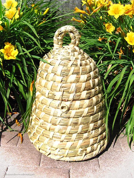 Bee Skep Basket Made From Natural Straw Eleanor Brown