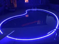 I would like to find led strip style lighting that is approved for submerged swimming pool applications. Waterproof Led Flexible Strip For Swimming Pool Fountain Lights Kit Led123 Canada