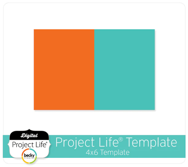 Project Life Digital Scrapbooking FREE 4x6 Template Digitalprojectlife