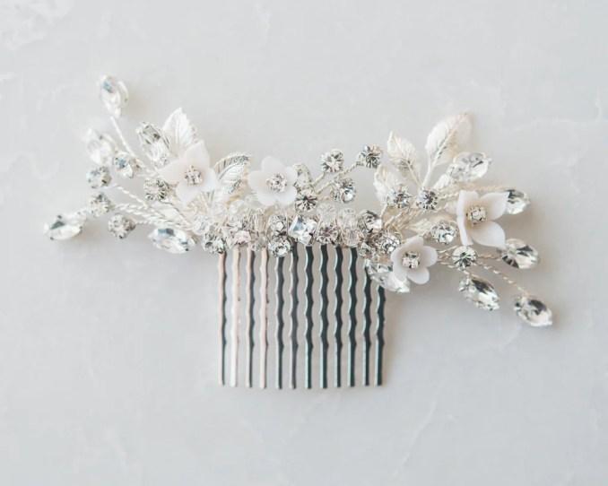 bridal hairpieces - pearl bridal hair combs - pearl wedding