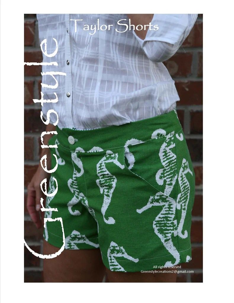 womens shorts sewing pattern