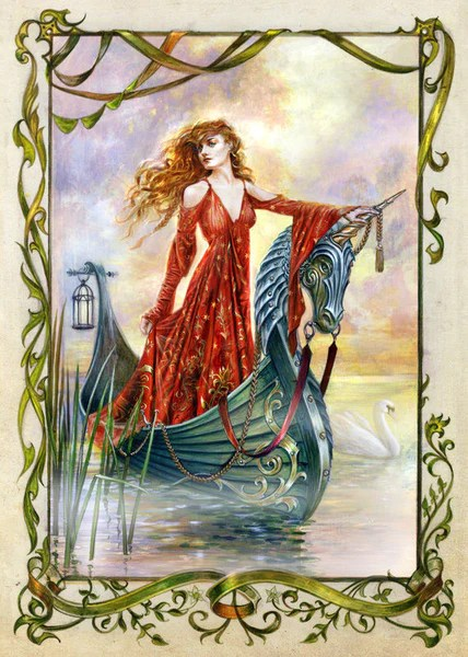 Lady Of The Mists Card By Briar Medieval Fantasy King