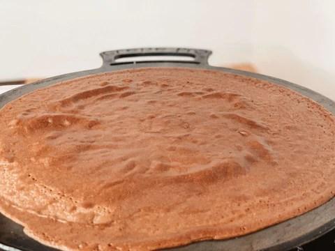Chocolate Crepe Ready to Flip