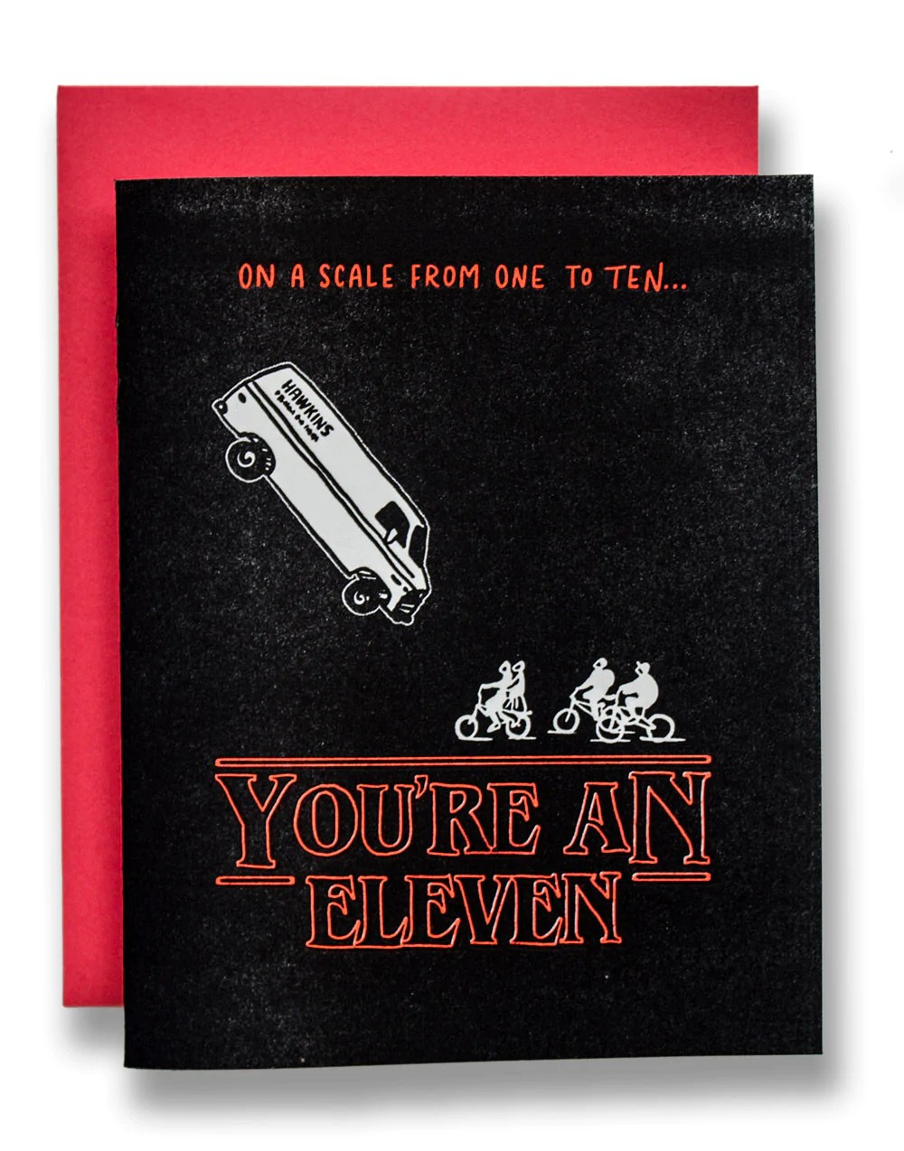 Stranger Things Card Youre An Eleven Ladyfingers