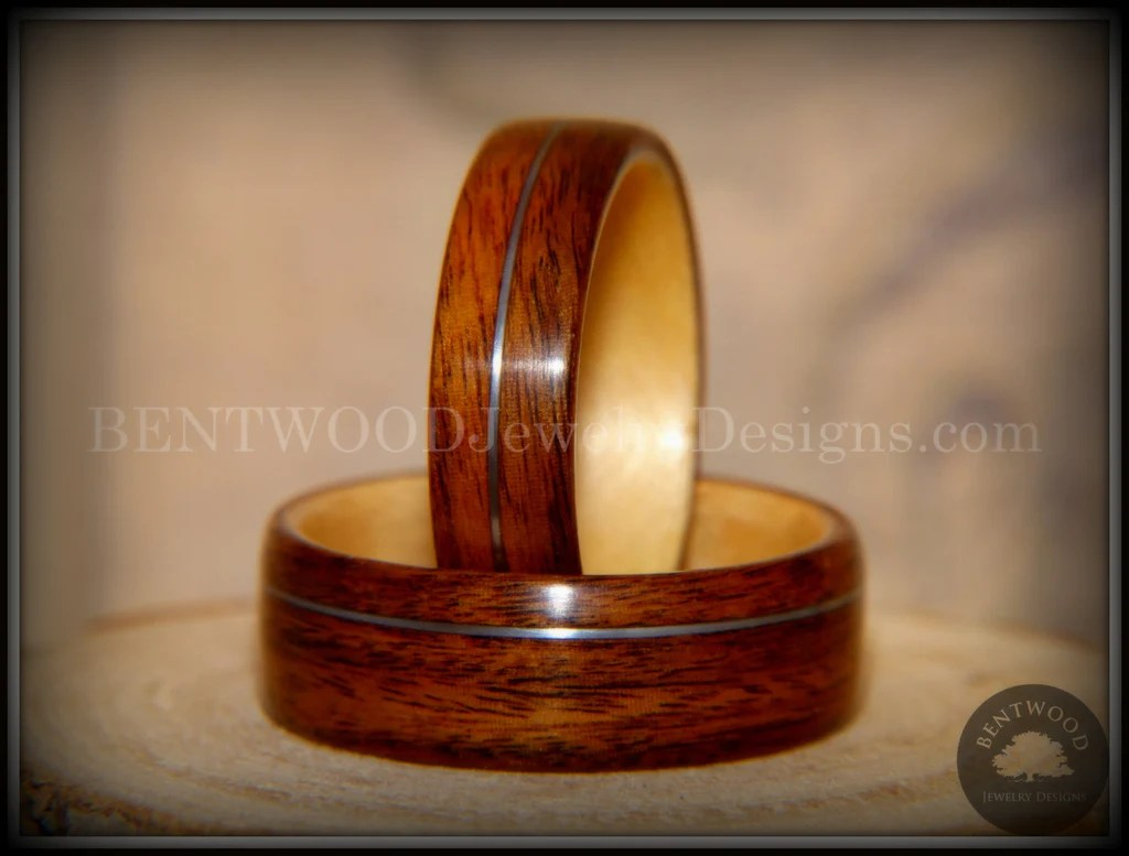 Bentwood Rings Set S American Rosewood And N American