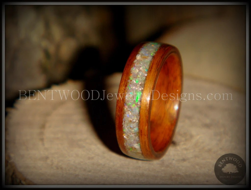 Bentwood Ring Prism Rosewood Wooden Ring With Ethiopian