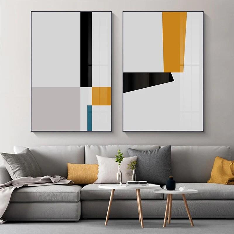 Minimalist Geometric Abstract Wall Art Modern Scandinavian ...