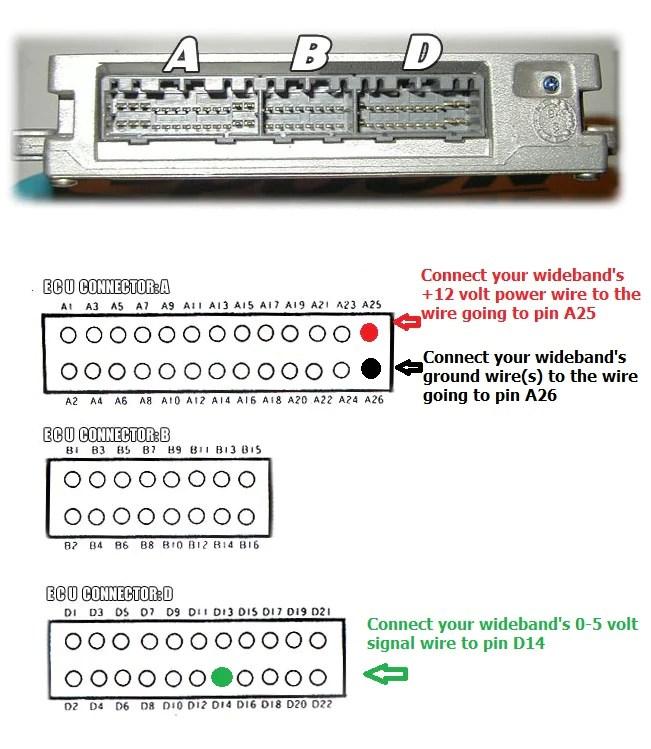 obd1 ecu wideband installation wiring instructions – ha
