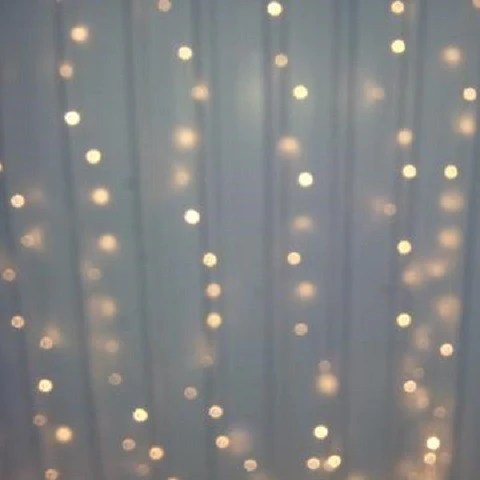 Warm White LED Fairy Light Curtain 6m X 3m My Wedding Store