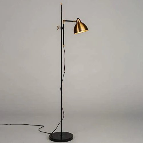 lampadaire salon industriel vintage laiton