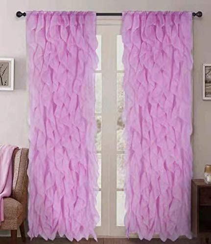 sapphire home 2 cascade curtain panels white ruffle 84 curtain panels sheer voile vertical ruffled curtain panels cascade 84 white