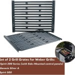 Spirit Porcelain Enameled Cooking Grid Grates For Weber Genesis Silver A