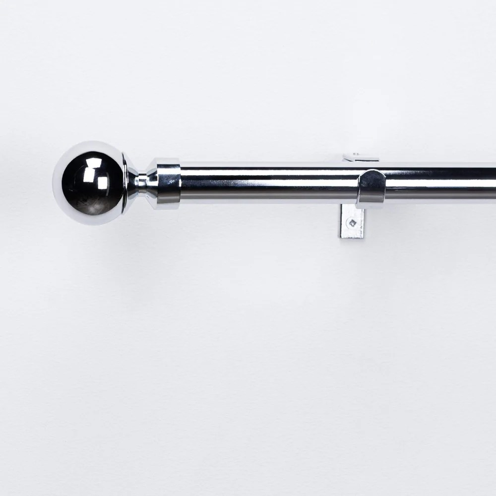 extendable chrome curtain pole with ball finial extendable chrome curtain pole with ball finial 120 210