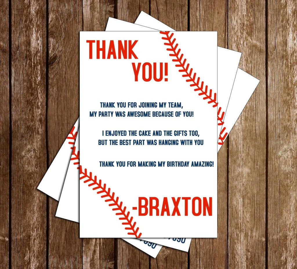 baseball with laces birthday party invitation