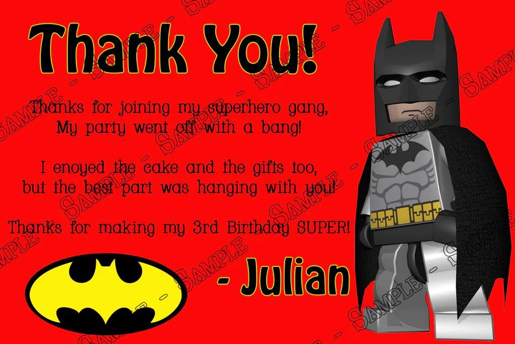 lego batman birthday invitation photo
