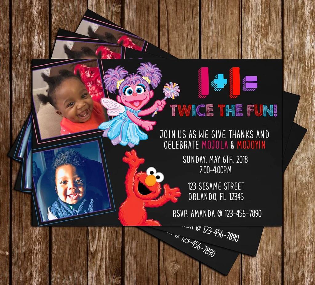 elmo abby sesame street birthday party invitation