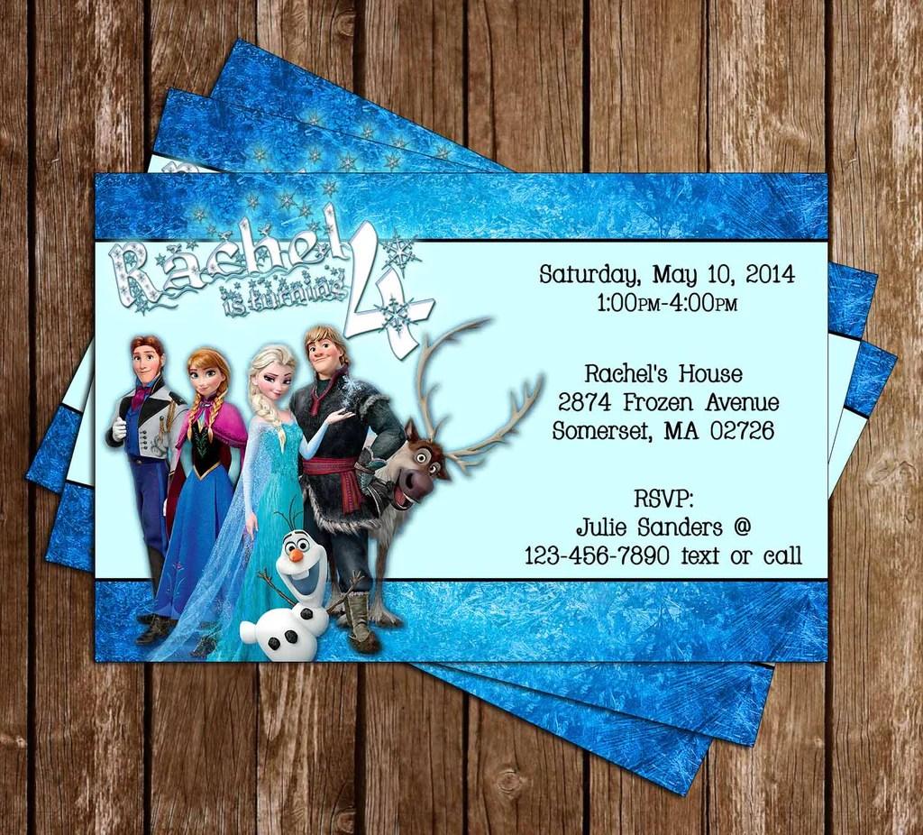 disney s frozen birthday party invitation