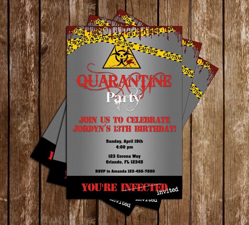 quarantine birthday party invitation