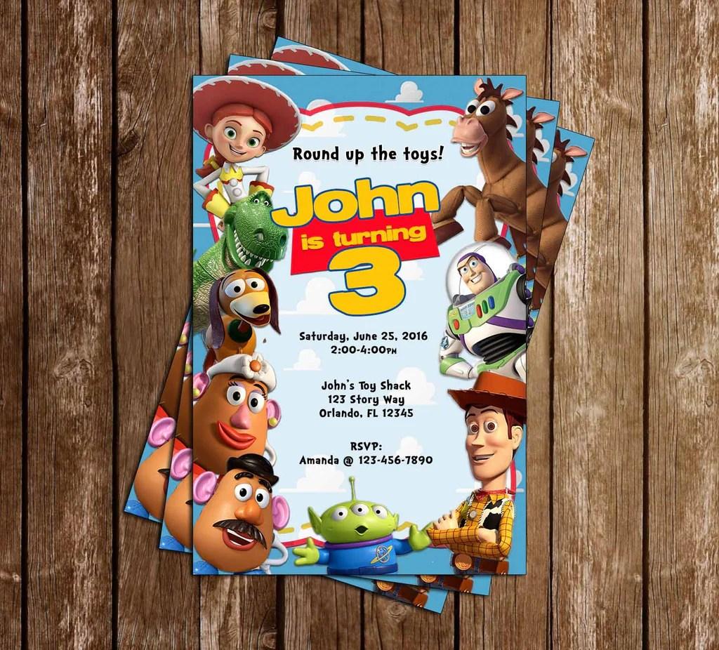 toy story movie birthday birthday party invitations