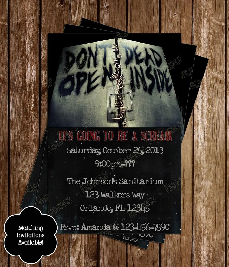 Custom Zombie Invitations