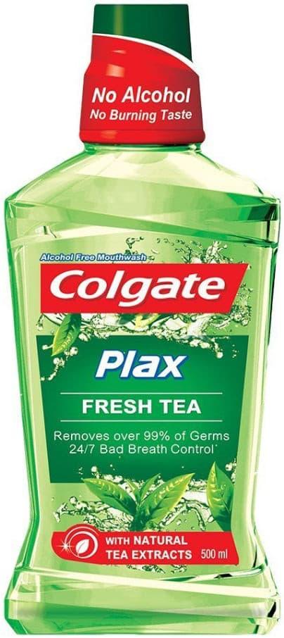 bain de bouche plax fresh tea no alcohol colgate 250ml