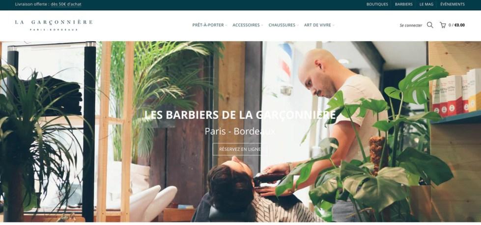 vitrine de boutique en ligne la garçonnière