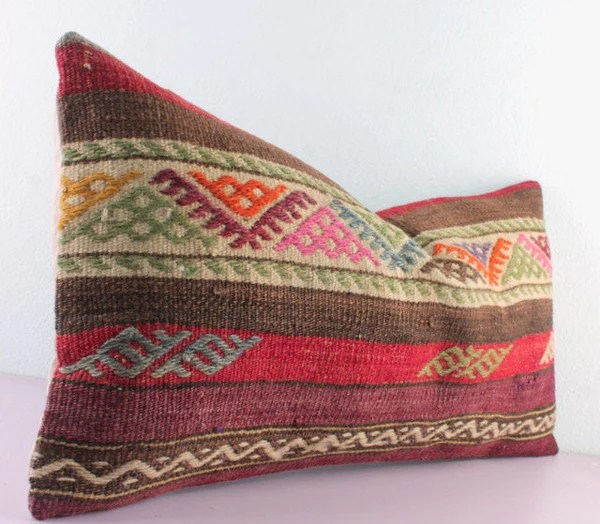 kilim lumbar pillows 12x24 homedecorwen
