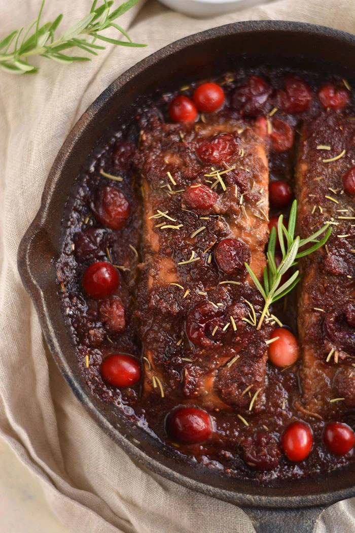 Skillet Cranberry And Balsamic Salmon