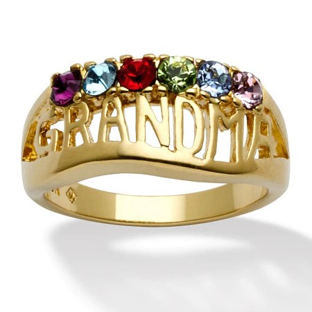 Personalized 14k Yellow Gold Plated GrandmaMother