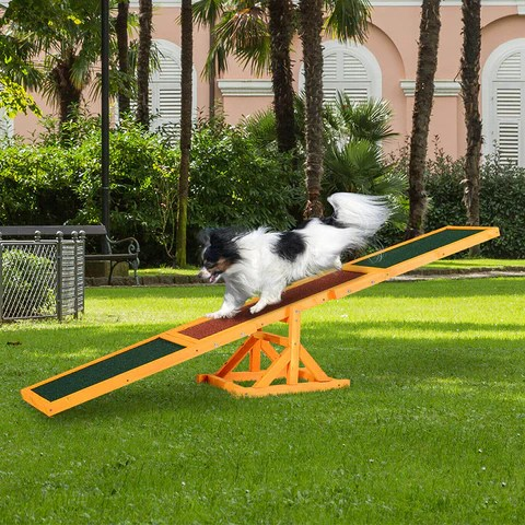 Pet Seesaw Wood Dog Supply Sport Run Game