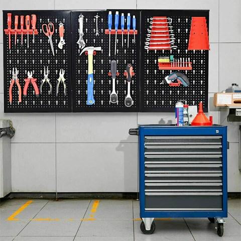 Metal Pegboard Garage Storage Organizer