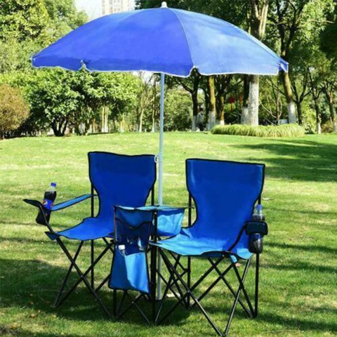 Picnic Table Cooler Chair with Umbrella