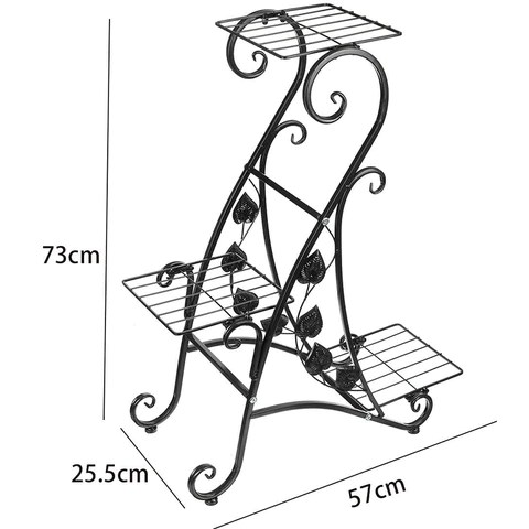Are you looking for a plant stand with a compact style that can be shown in a variety of ways? Our Metal Plant Stand 3 Layer Flower Pot Rack is ideal for any garden party or outdoor gathering, as well as a thoughtful gift for garden enthusiasts, housewarming, Mother's Day, and birthdays, a  visually appealing way to keep plants off the ground.