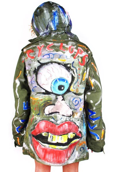 39CYCLOPS39 Painted Army Parka Patricia Field ARTFASHION