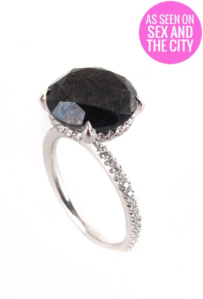 Carries Black Diamond Engagement Ring Patricia Field