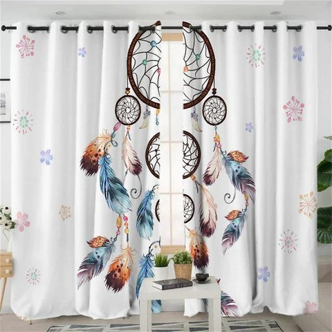 living room curtains native powwow store