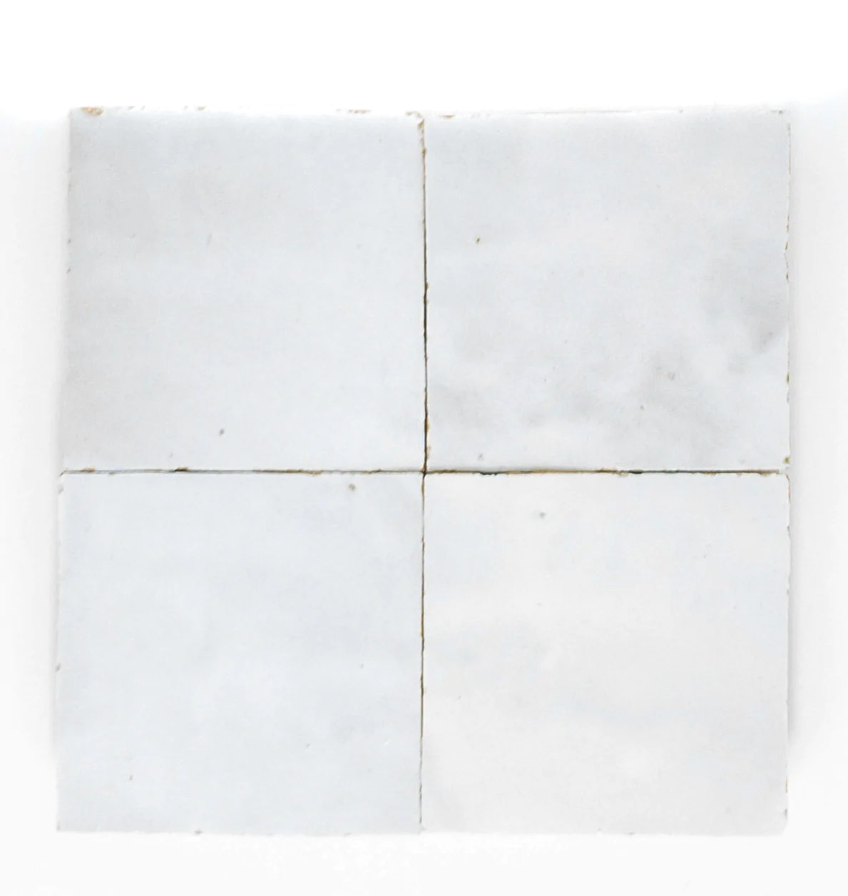 handmade zellige 4x4 dust white terracotta tile sample
