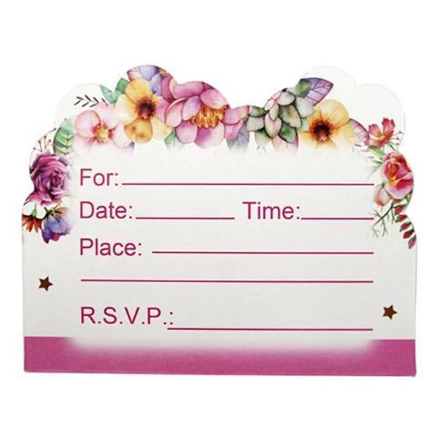 carte d invitation anniversaire licorne 10 pieces