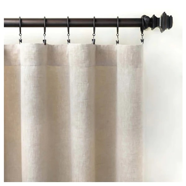 pine cone hill lush linen natural curtain panel