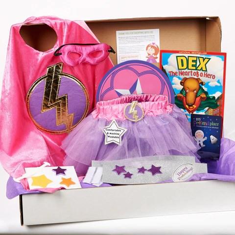 Pink Lightning Superhero Pretend Play Package