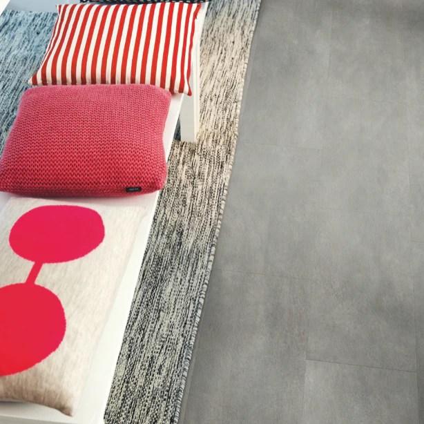 pergo dark grey concrete vinyl tile 4v