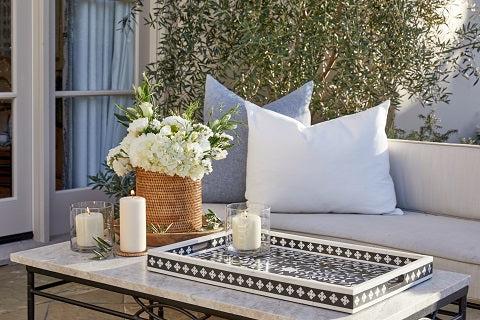 Boho inspired garden table decor