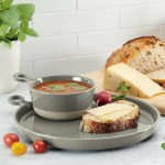 Soup And Sandwich Set 10 Round Plate 12 Oz Bowl Potsandpans