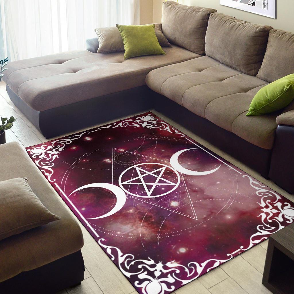 Triple Moon Wicca Area Rug Moonchildworld