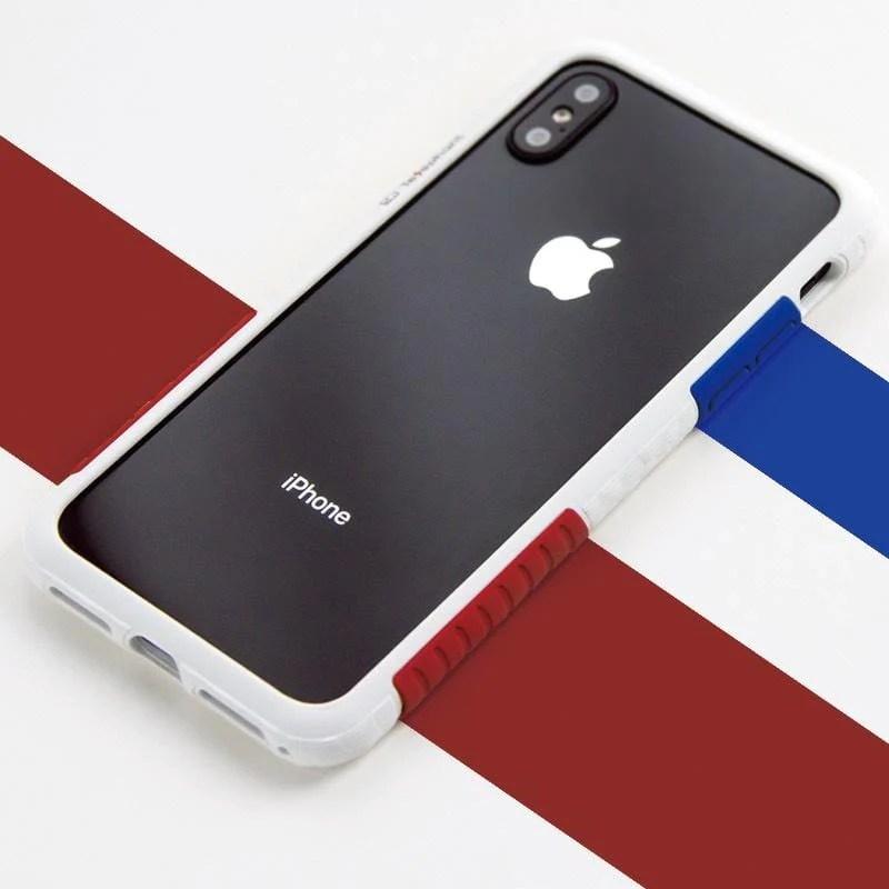 太樂芬NMDer抗污防摔iPhone手機殼 黑框OG紅藍色塊 加贈乾燥玫瑰粉色塊 | citiesocial | 找好東西